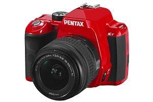 Pentax K-r digital SLR camera - red