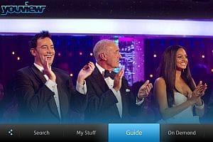 YouView menu screenshot - Strictly Come Dancing