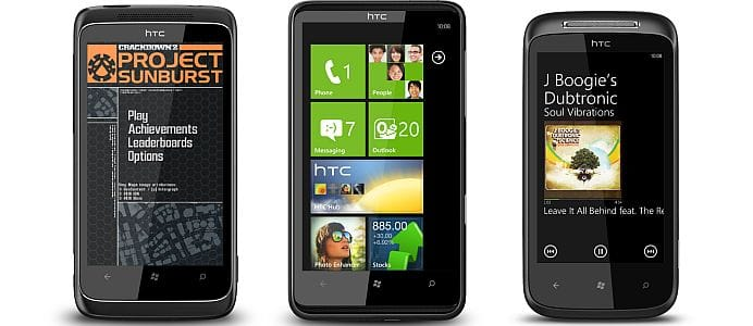 Windows Phone 7 - HTC handsets - Trophy, HD7, Mozart