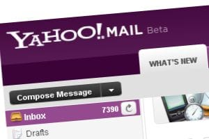 Yahoo! Mail Beta screenshot