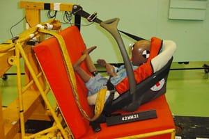 Testing a child car seat