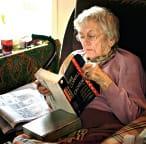 elderly lady reading