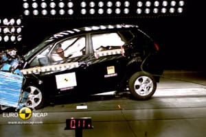Kia Venga Euro NCAP crash test