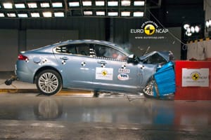 Jaguar XF Euro NCAP crash test
