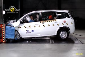 Landwind CV9 in Euro NCAP crash test