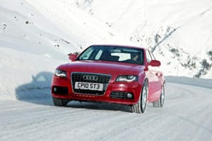 Audi driving on snow