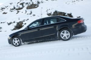 BMW 5 Series in the snow