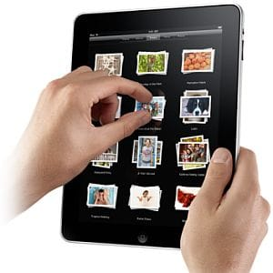 Apple iPad multi-touch screen