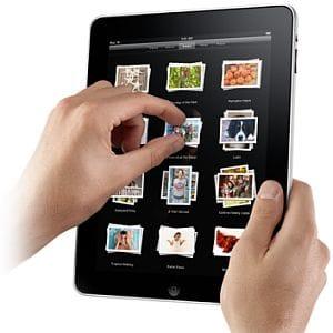 Apple iPad multi-touch screen