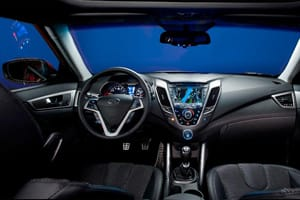 Hyundai Veloster coupé interior