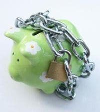 money box in chains