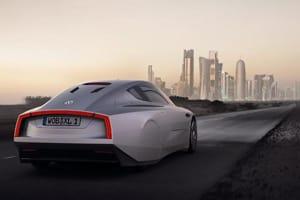 Volkswagen XL1 concept car rear three quarter