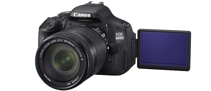 Canon EOS 600D DSLR - black - with Live View LCD screen