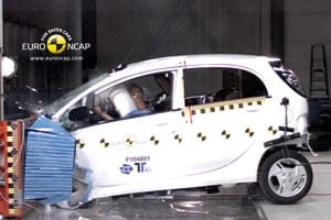 Mitsubishi i-MiEV Euro NCAP front crash test