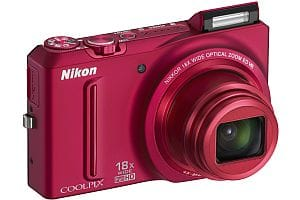 Nikon S9100 18x superzoom compact camera - red
