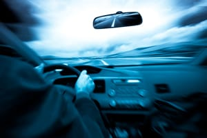 Speeding on a rural road