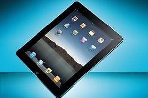 Apple iPad - blue background
