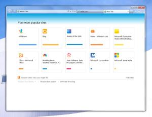 IE9 New Tab Page feature