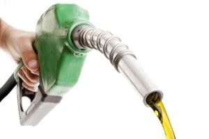 Petrol pump with petrol