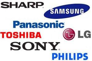 TV brand logos