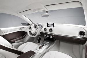 Audi A3 saloon plug-in hybrid e-tron concept interior