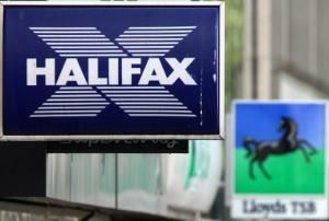 Halifax and Lloyds branch sign