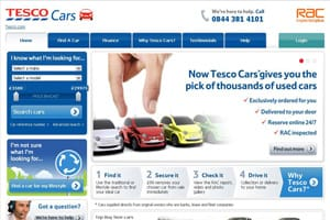 Tesco Cars homepage