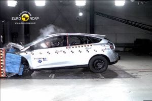 The new Ford Focus protects well in the front crash