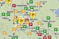 Hospital car parking map