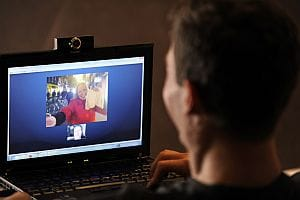 Skype video calling with webcam
