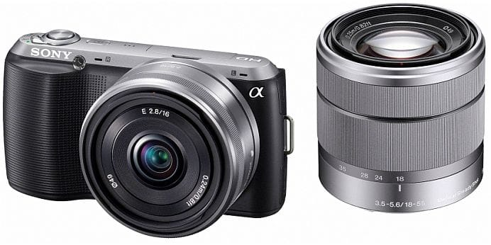 Sony NEX-C3 compact system camera with kit lens