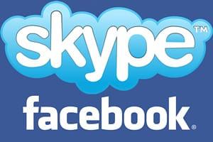 Facebook Skype logo