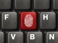 Fingerprint on keyboard
