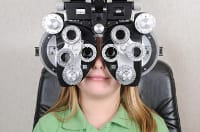 Child getting eyes tested