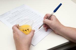 Testing orange juice