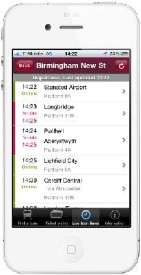 CrossCountry Trains mobile app