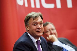Ed Balls MP and Peter Vicary-Smith