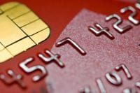 Red-coloured credit card