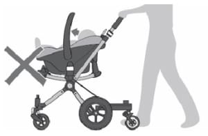 Bugaboo Cameleon - how not to use car seat