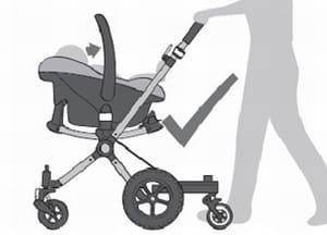 Bugaboo Cameleon - how to fit a car seat