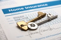 home insurance documents and keys