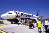 Ryanair - people getting on airline