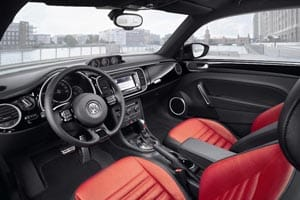Interior of the new VW Beetle
