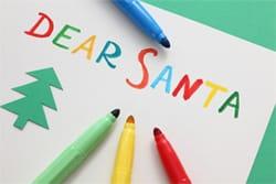 A Christmas list of toys for Santa