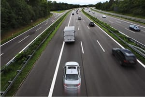 Lane hogging on motorway