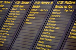 platform screen timetable