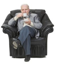 Older man in chair