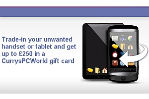 Currys and PC World mobile and tablet trade in service
