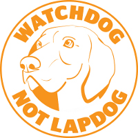 Watchdog not Lapdog logo - orange