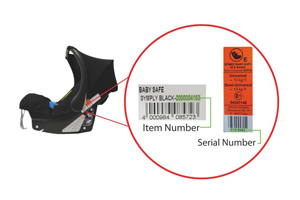 Check for the product item number and the serial number